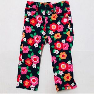 5/$25 Gymboree baby floral pull on pants 12-18 M